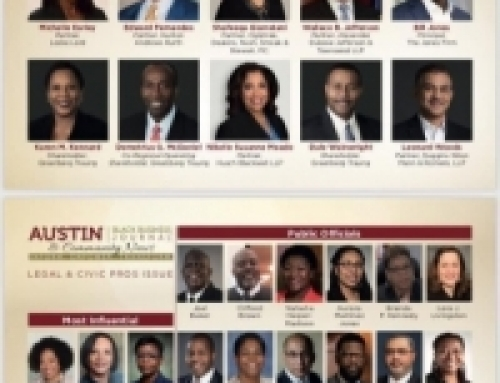 The Austin Black Business Journal Recognizes Members and Associates as Top Lawyers and Civic Pros in Austin, Texas